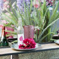 Tasse à bougie, coupe en verre, lanterne, décoration en verre Ø10cm H18,5cm