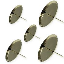 Bougeoir or au vers. Tailles 4pcs