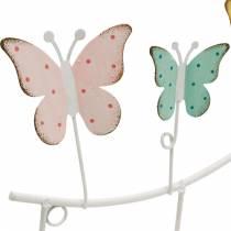 Décoration de printemps, tringle à crochets avec papillons, décoration en métal, armoire décorative 36cm
