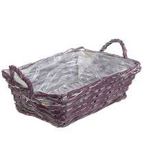 Panier carré 29cm x 23cm H10cm Violet
