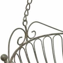 Corbeille à fleurs corbeille à plantes décorative rouille, métal blanchi blanc Ø28 / 22cm, lot de 2