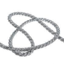 Corde argentée 10 mm 10 m