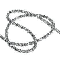 Ruban cordon argent 4mm 25m