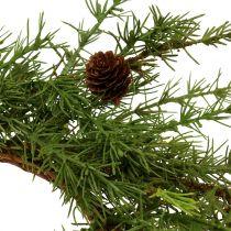 Couronne, couronne de table mélèze vert Ø 50 cm