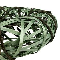 Couronne avec osier et écorce grand format verte Ø 45 cm