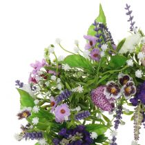 Couronne damier fleur / lavande / lilas Ø28cm