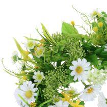 Couronne de printemps avec gerbera blanc-jaune Ø 30 cm
