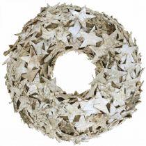Déco guirlande étoiles décoration de table en écorce de bouleau bouleau de l'Avent Ø25cm