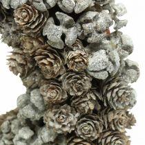 Couronne décorative cônes mélèze cyprès couronne de table Noël Ø30cm