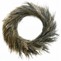Couronne décorative herbe sèche et grain Ø55cm couronne sèche