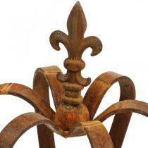 Couronne décorative vintage en acier inoxydable décoration métal Ø20cm H28cm