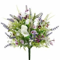 Bouquet artificiel, décorations de table, fleurs en soie, bouquet printanier coloré