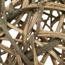 Boule déco bois de vigne naturel Ø25cm