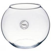Vase boule, bocal, lanterne en verre, verre décoratif Ø18,5cm H16cm