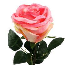 Rose artificielle touffue rose bonbon Ø 10 cm L 65 cm 3 ex