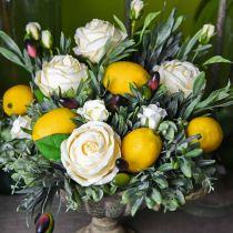 Fruit artificiel, citron, fruits décoratifs L8.5cm Ø5cm 4pcs