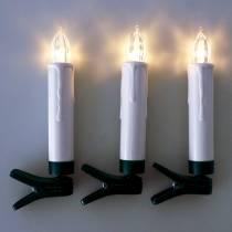 Bougies de sapin à LED 10 cm blanc chaud