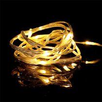 Guirlande lumineuse LED 20 intérieur 2m minuterie blanc chaud à piles