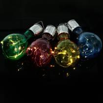 Décoration de jardin ampoule LED solaire assorties 15cm 4pcs