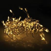 Guirlande lumineuse LED blanc chaud argent 100cm 100L pour batterie