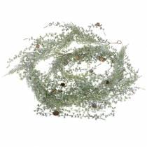 Lärchengirlande Green / Geeist avec des cônes 180cm