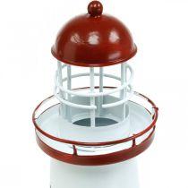 Phare rouge décoration maritime décoration d'été en métal