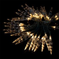 Guirlande lumineuse stalactites 40 LED blanc chaud 3,9 m