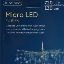 Cascade lumineuse à micro-LED blanc froid 720 amp. H. 130 cm