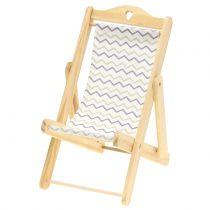 Chaise longue décorative motif zigzag H15 cm 3p