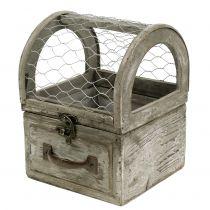 Boîte avec fil pour la plantation 13,5x13,5x18,5cm