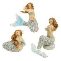 Figurine décorative sirène bleue 6 – 9,5 cm 3 p.