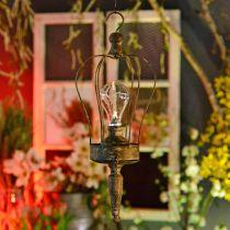 Lanterne LED, lampe décorative, aspect antique, Ø16cm H43cm