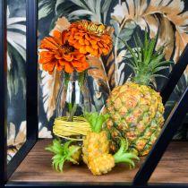 Mini ananas artificiel H6.5cm - 8cm 6pcs