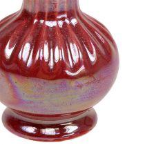 Mini Vase Ø5cm H10cm Nacre Rouge 6pcs