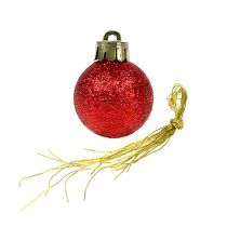 Mini boule de Noël rouge Ø3cm 14pcs