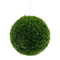 Boule de mousse verte avec paillettes Ø 15 cm