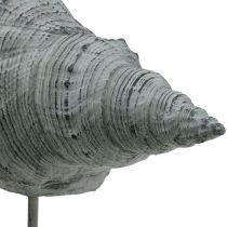 Figurine de jardin coquillage sur socle H. 30 cm