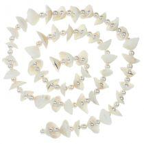 Guirlande coquillage avec perles blanches 100cm
