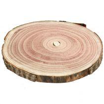 Tranche d'arbre cloche bleue naturelle Ø25-30cm 1p