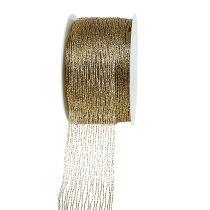 Ruban maille fil d'or renforcé 40mm 15m