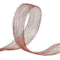 Ruban maillé en fil de cuivre renforcé 40mm 15m