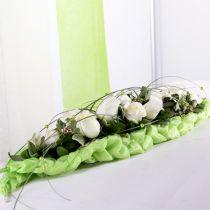 Décoration de table en brique mousse florale vert 22cm x 7cm x 5cm 10pcs