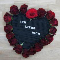 Coeur en mousse plug-in noir 33cm 2pcs décoration de mariage