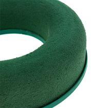 Couronne d'anneau mousse florale vert H4,5cm Ø17cm 6pcs