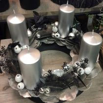 Bague couronne mousse florale noire Ø30cm 2pcs