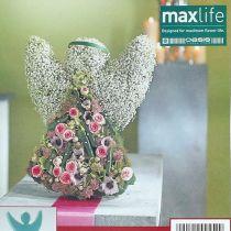 Ange en mousse florale avec stand-up dimensions 45cm x 34cm