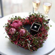 Mousse florale noire 17cm 2pcs décoration de mariage