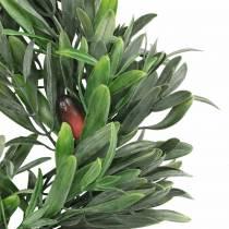 Couronne d'olive artificielle verte Ø28cm décoration méditerranéenne