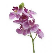 Orchidée avec paillettes, rose 25 cm