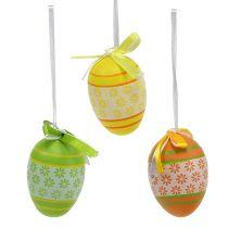 Oeufs de Pâques à suspendre mix couleurs assorties 6cm 18pcs